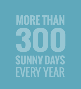 More than 300 sunny days every year